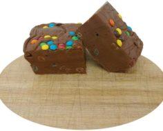 Chocolate M&M Cut Fudge