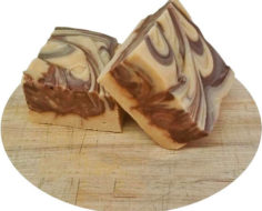 Chocolate Peanut Butter Cut Fudge with text